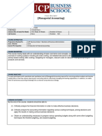 Managerial Accounting-COURSE OUTLINE