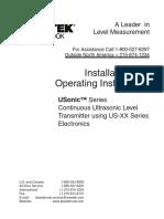 Manual Usonic Ultrasonic Level Transmitter English
