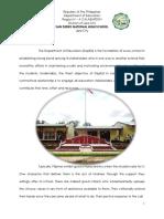 Narrative Report - BE 2015
