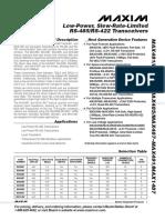 MAX485 Datasheet