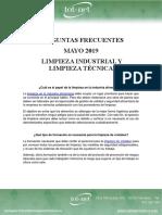 Preguntas Frecuentes Mayo 19 Limpieza Industrial y Limpieza Técnica