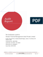 Pentair Noida ARG-407503 WI-820614 Audit Report