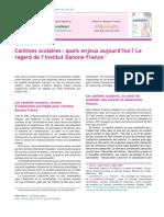 Danone in France - le regard de  l`institut francais