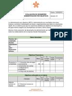 Evaluación de Desempeño Administración Por Objetivos