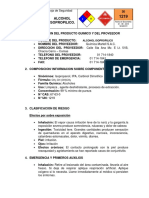MSDS Alcohol Isopropílico MARTELL