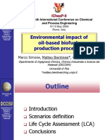 Environmental impact of oil-based biofuels production processes