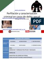 Presentación Proyecto Perfilacion y Caracterización Criminal en Casos de Delitos Sexuales