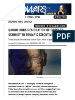 QAnon Links Resignation of Google s Schmidt to Trump s Executive Order