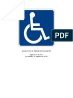 RA 7277 Rights and Privileges of PWD