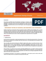 Impairment Testing of Assets - March 2019