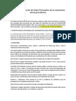 CDP Política de Protección de Datos Personales