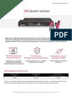 5200 Security Gateway Datasheet