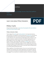 Policy Evaluation - R