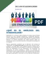 Análisis de Los Stakeholders