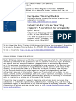 Industrial Districts as Learning Regions