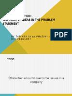 Flows of Ideas - Tamara - Research Method