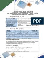 Guía de Actividades y Rúbrica de Evaluación - Tarea 3 - Mejorar Gestión de Procesos Logísticos de Distribución