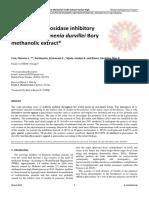 In-vitro a-Glucosidase Inhibitory Activity of Halymenia Durvillei Bory Methanolic Extract
