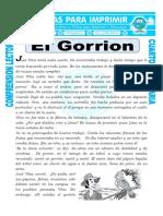 Ficha El Gorrion Para Cuarto de Primaria