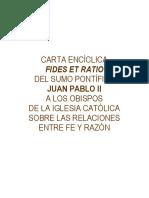 CARTA ENCÍCLICA FIDES ET RATIO.pdf
