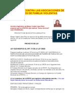 PROYECTO DE LEY PARA INHABILITAR A LAS APAFAS VIOLENTAS