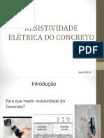 AULA DE RESTIVIDADE ELÉTRICA SUPERFICIAL E VOLUMÉTRICA