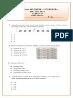 Prueba Matemática 3
