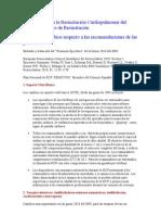 Guìas para la RCP 2010 cambios del2005 Europa