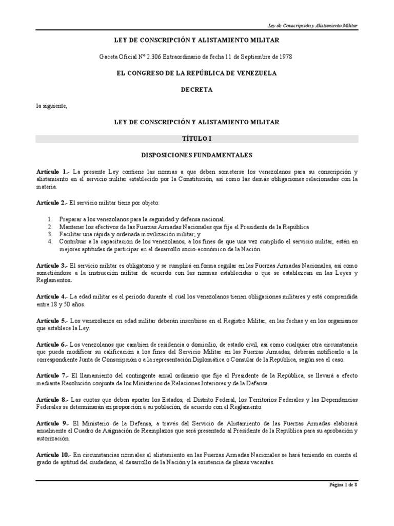 Ley Conscripción Militar