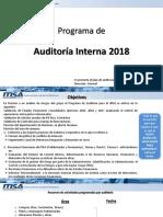 Programa de Auditoría 2018