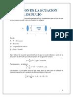 Deduccion de La Ecuacion General de Flujo