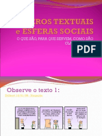 Gêneros Textuais Slides