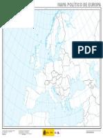 Mapa Politico de Europa Mudo 1 13.725.000