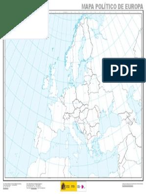 Mapa Politico Europa Mudo Pdf.Mapa Politico De Europa Mudo 1 13 725 000 Informatica Y