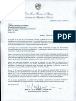 Carta para Jorge Castaño Gutiérrez - Superintendente Financiero