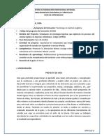Guía 02 Proyecto de Vida