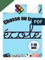 Chasse Au Trésor Thème École1