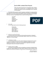 MBA Thesis Proposal Guidelines (for Academic Thesis) for 2014 2015 Intake or After