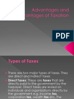 Advantages and Disadvantages of Taxation