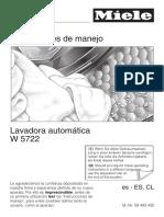 Instrucciones Lavadora Miele