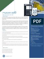 Datasheet ES_rele de Proteccion_GE MULTILIN 889