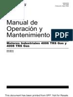 Operacion y Mantenimiento 4006 4008 Trs Gas