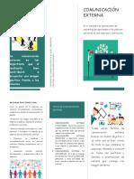 folleto comunicacion externa