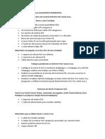 Trabajos y Materiales Para GALAPAGOS PENDIENTES