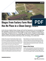 Biogas From Factory Farm Waste Has No Place in a Clean Energy Future
