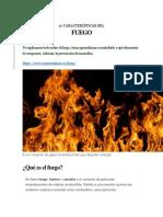 10 Características Del Fuego