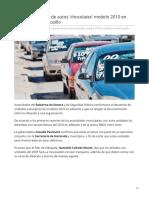 12-06-2019 Inician Decomisos de Autos 'Chocolates' Modelo 2010 en Adelante en Hermosillo- Tribuna