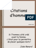 Citations d'hommes. Machos!