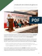 12-06-2019 Conavim evaluará erradicación de la violencia de género en Sonora-Tribuna