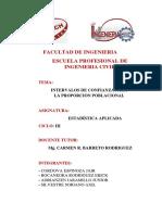 Intervalos de Confianza Proporcion Poblacional